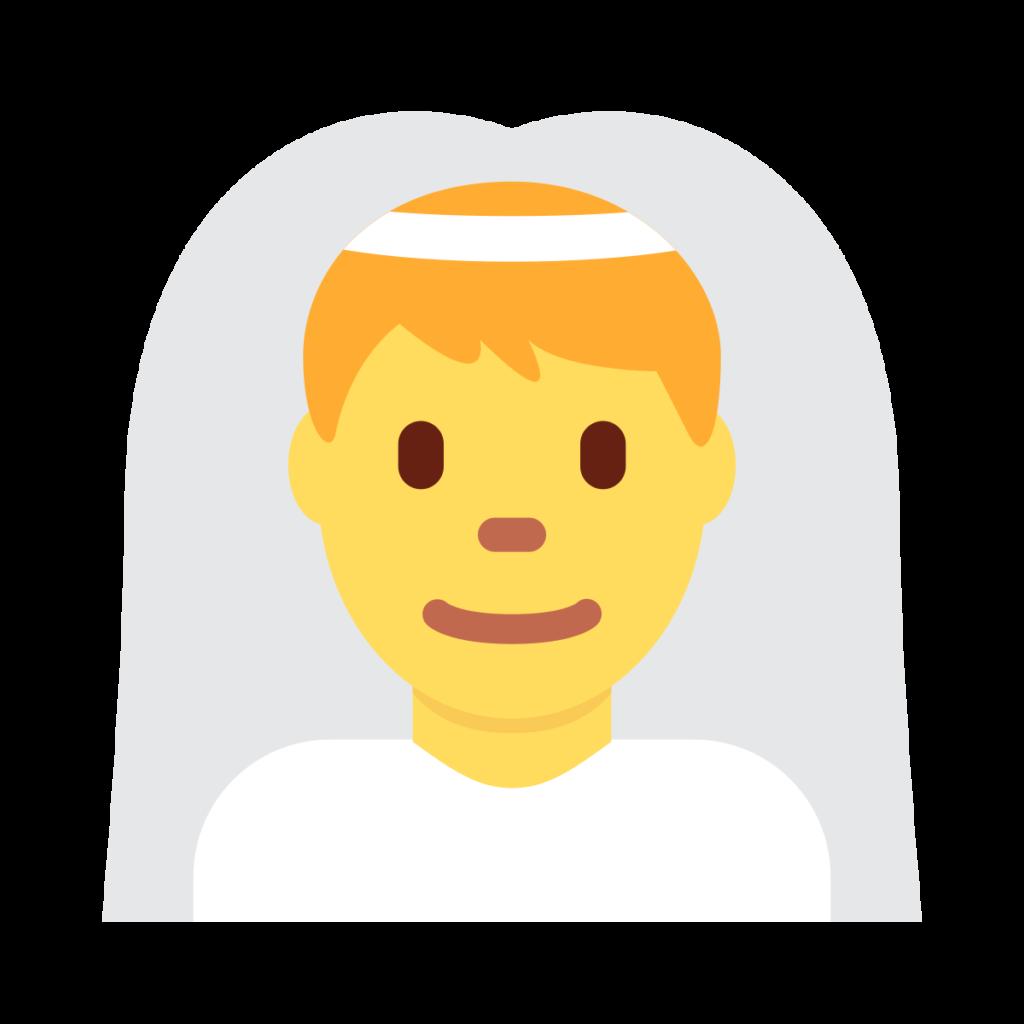 ⊛ Man With Veil Emoji