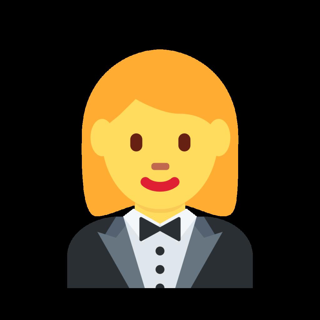 ⊛ Woman In Tuxedo Emoji