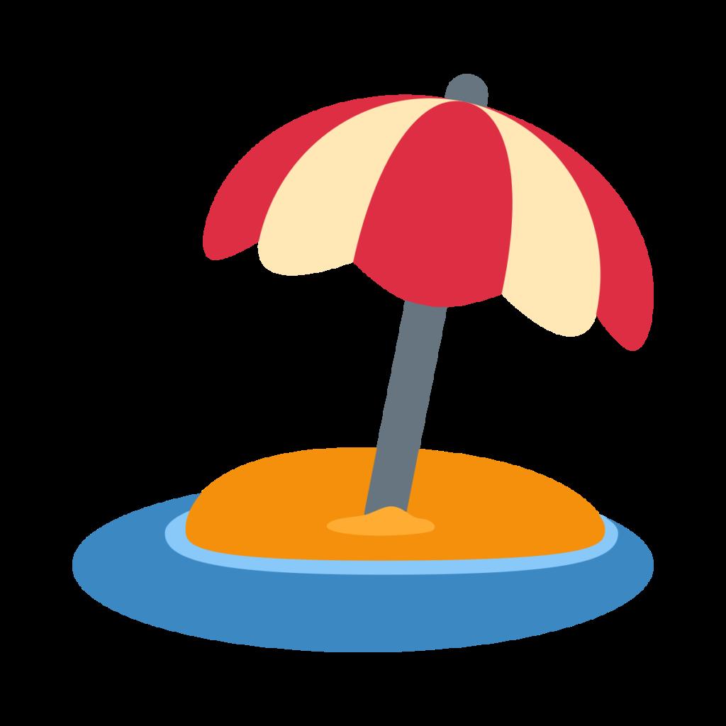 Beach With Umbrella Emoji