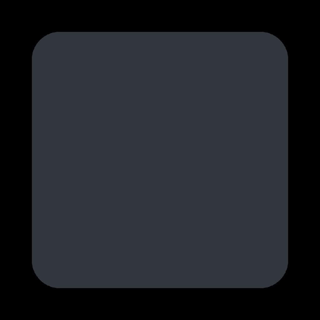 Black Large Square Emoji