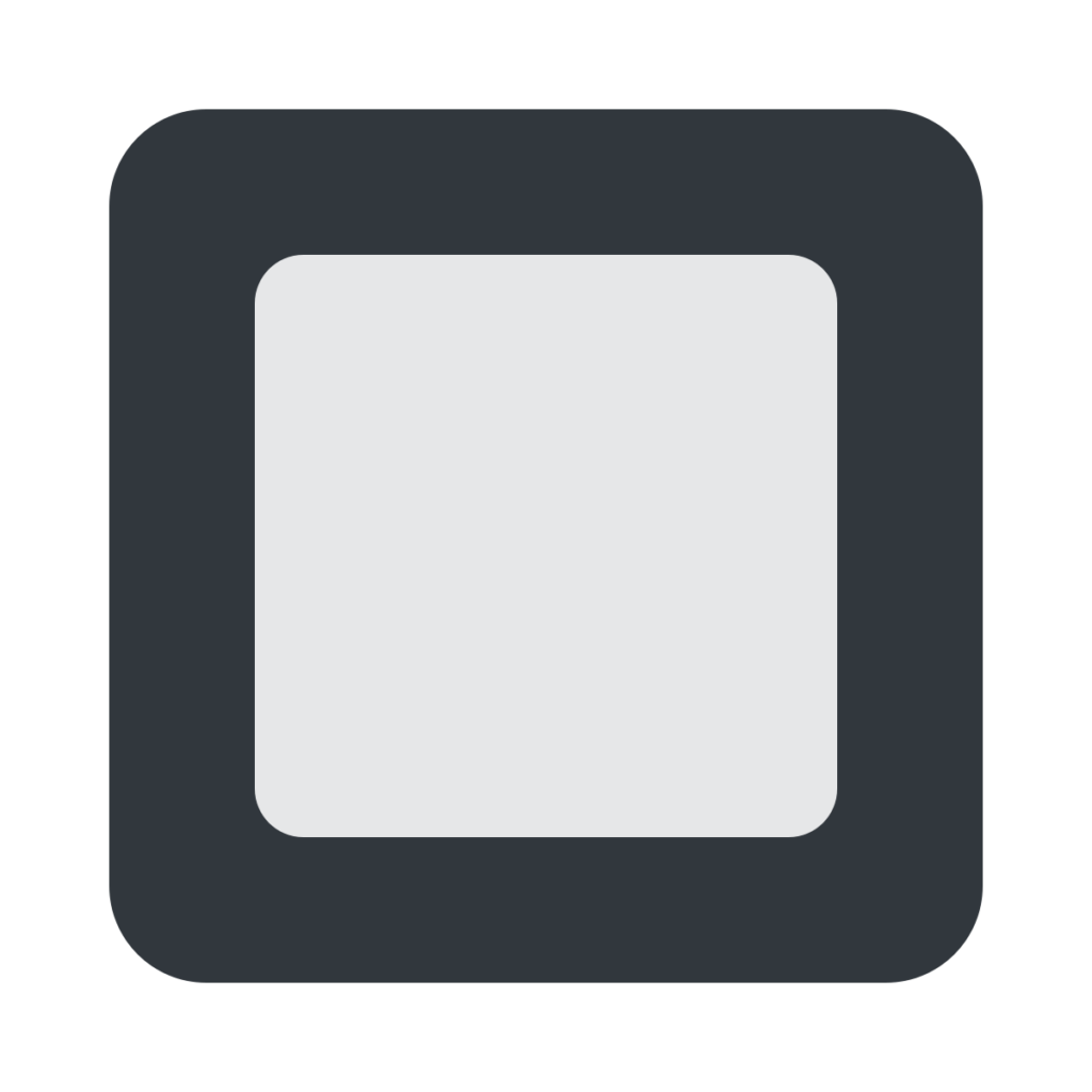 Black Square Button Emoji