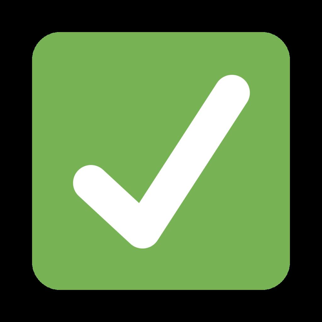 Check Mark Button Emoji