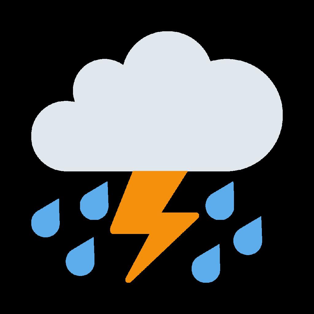 Cloud With Lightning And Rain Emoji
