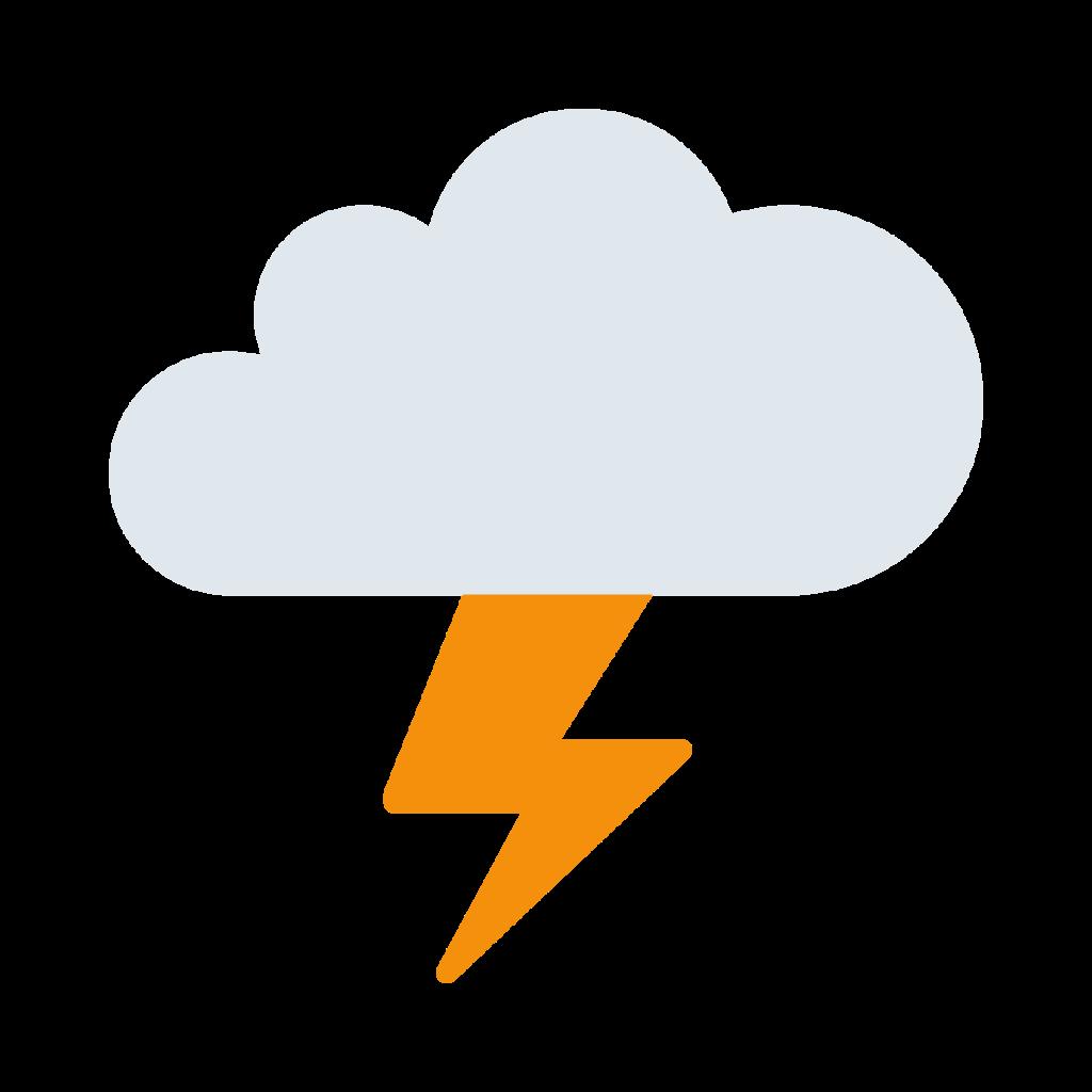 Cloud With Lightning Emoji
