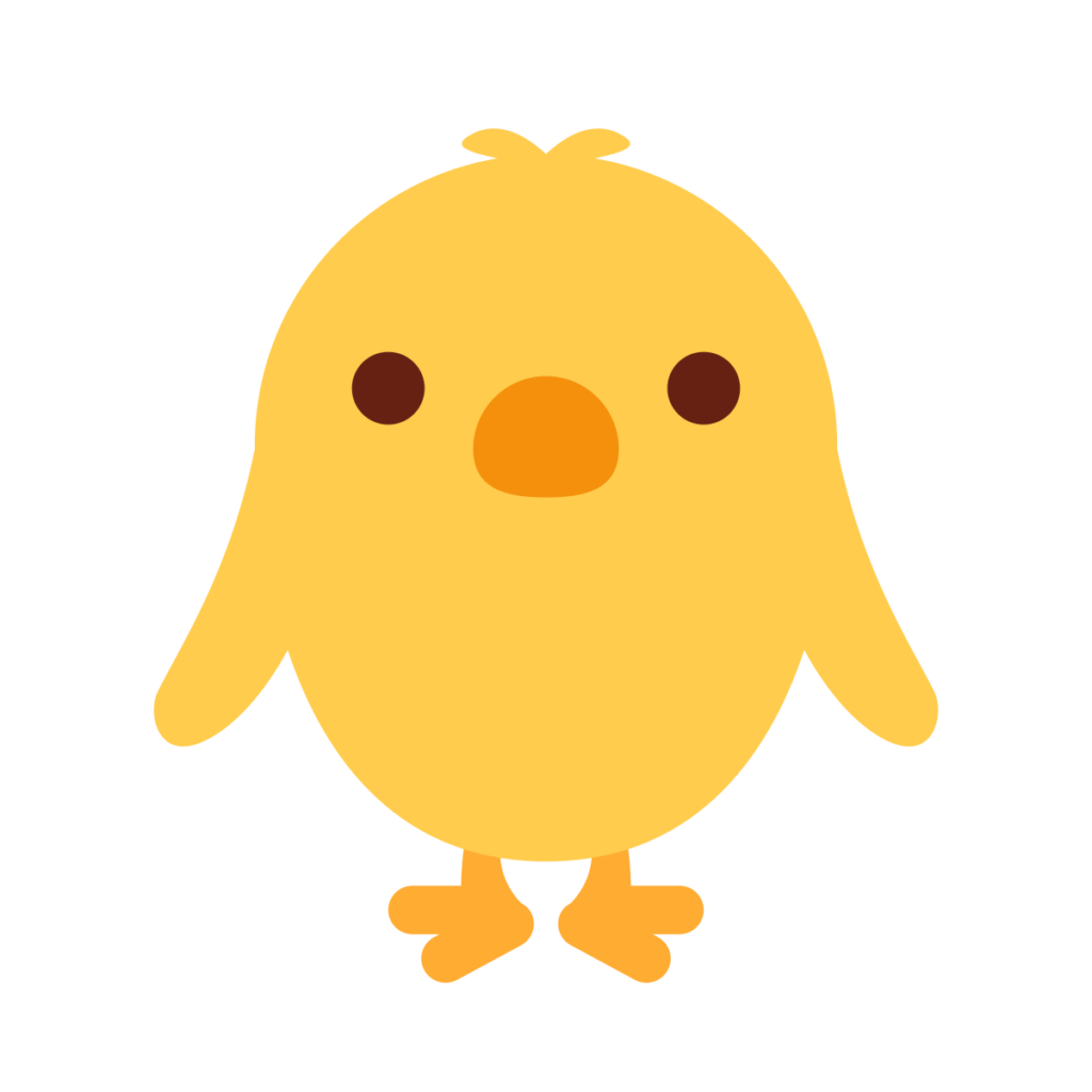Front Facing Baby Chick Emoji