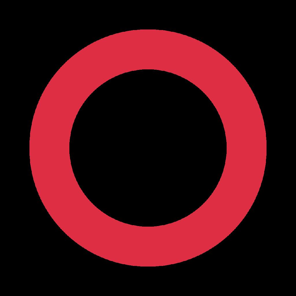 Hollow Red Circle Emoji