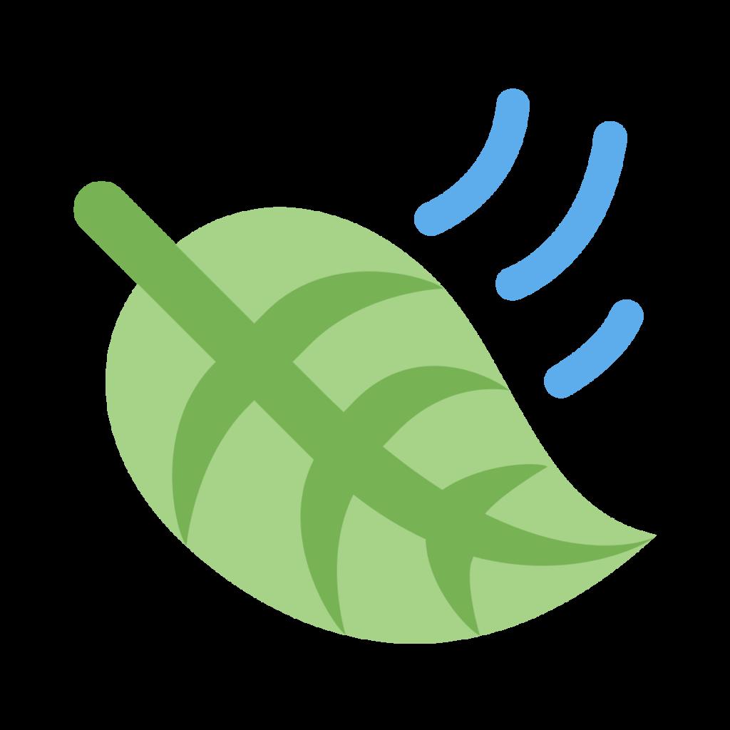 Leaf Fluttering In Wind Emoji