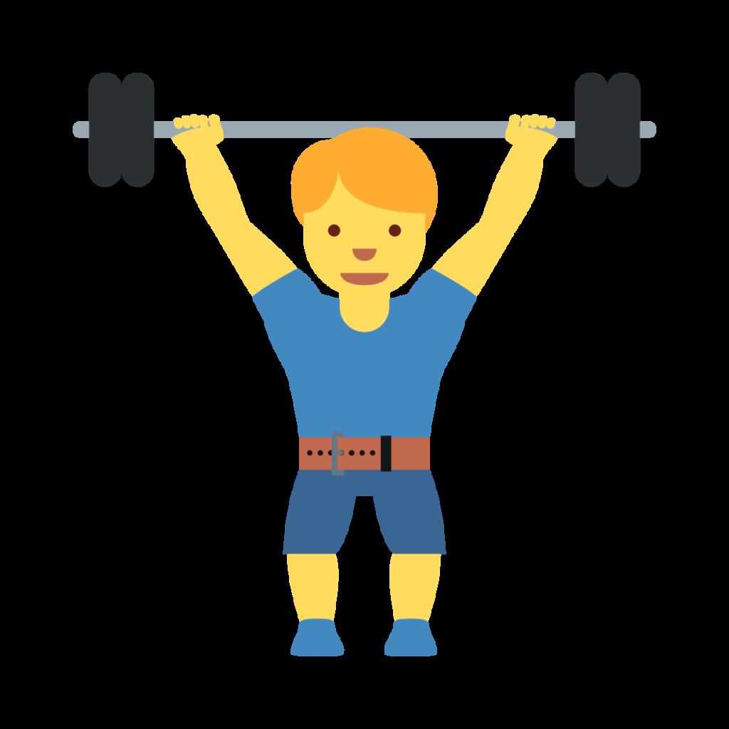 Man Lifting Weights Emoji