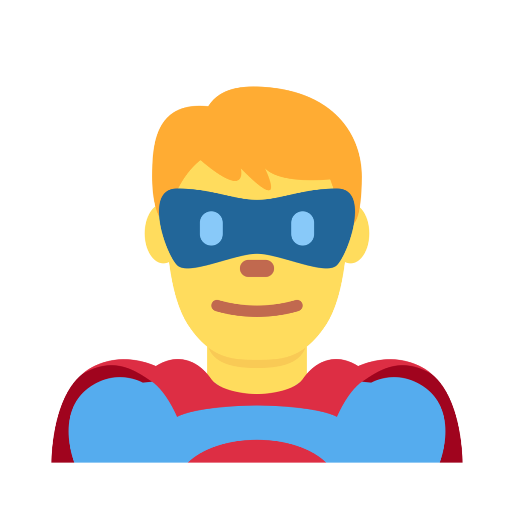 Man Superhero Emoji