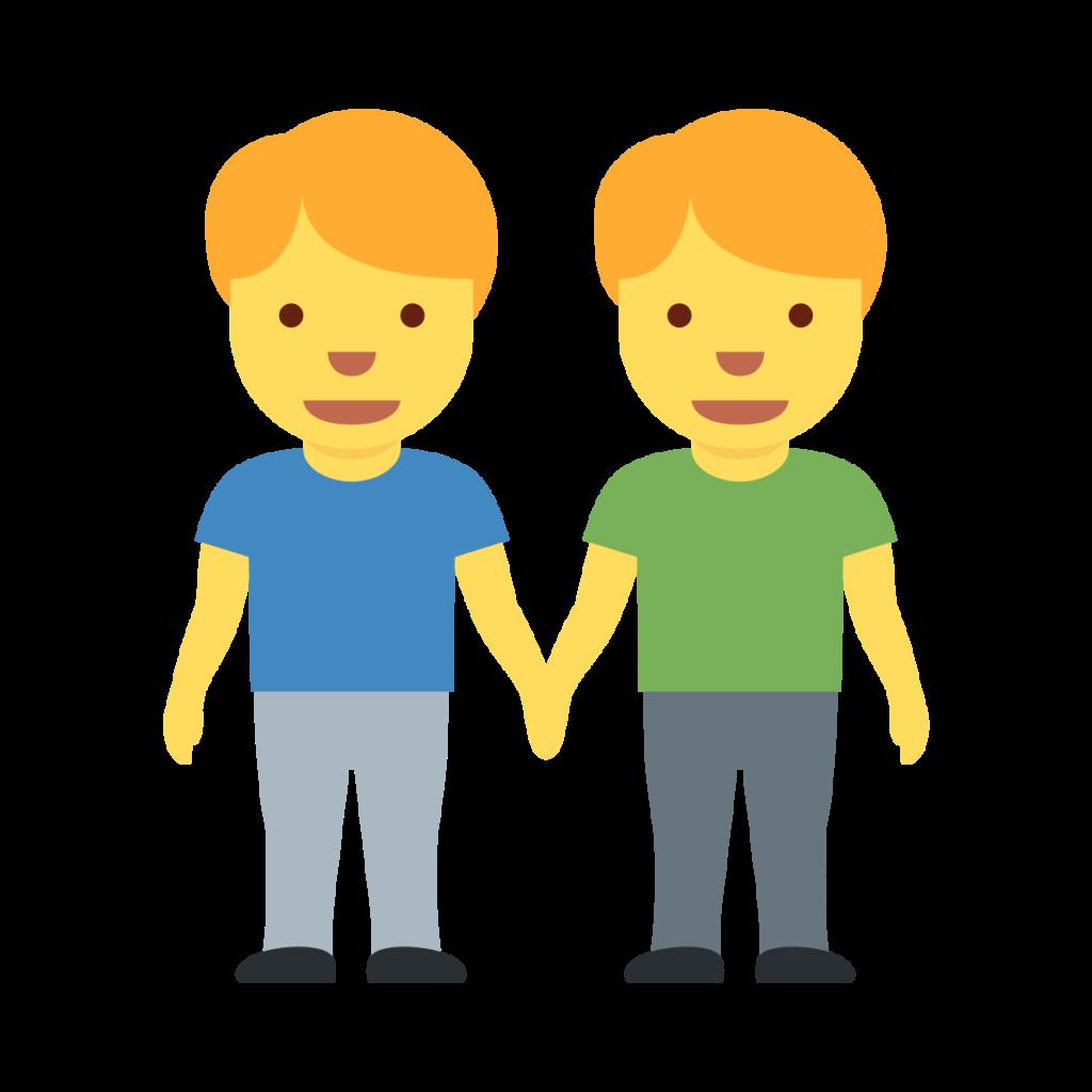 Men Holding Hands Emoji