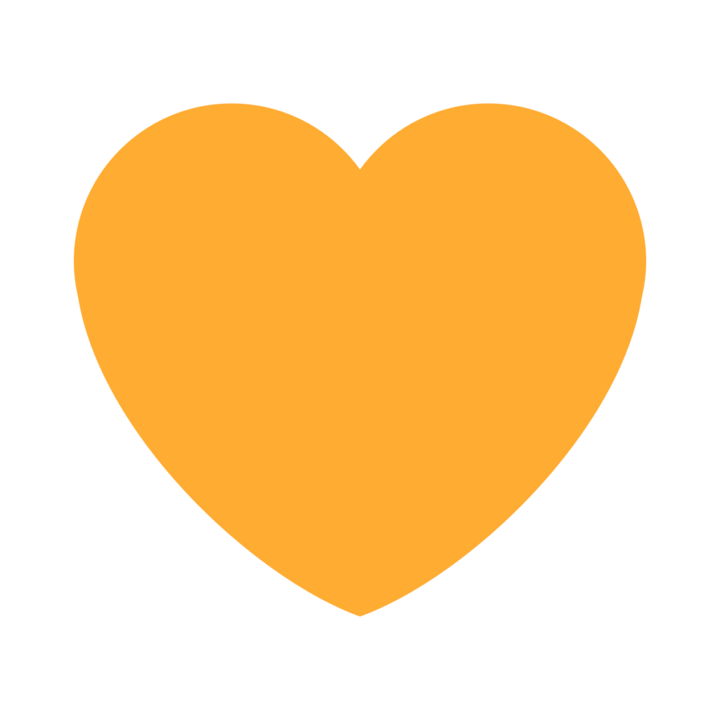 Orange Heart Emoji
