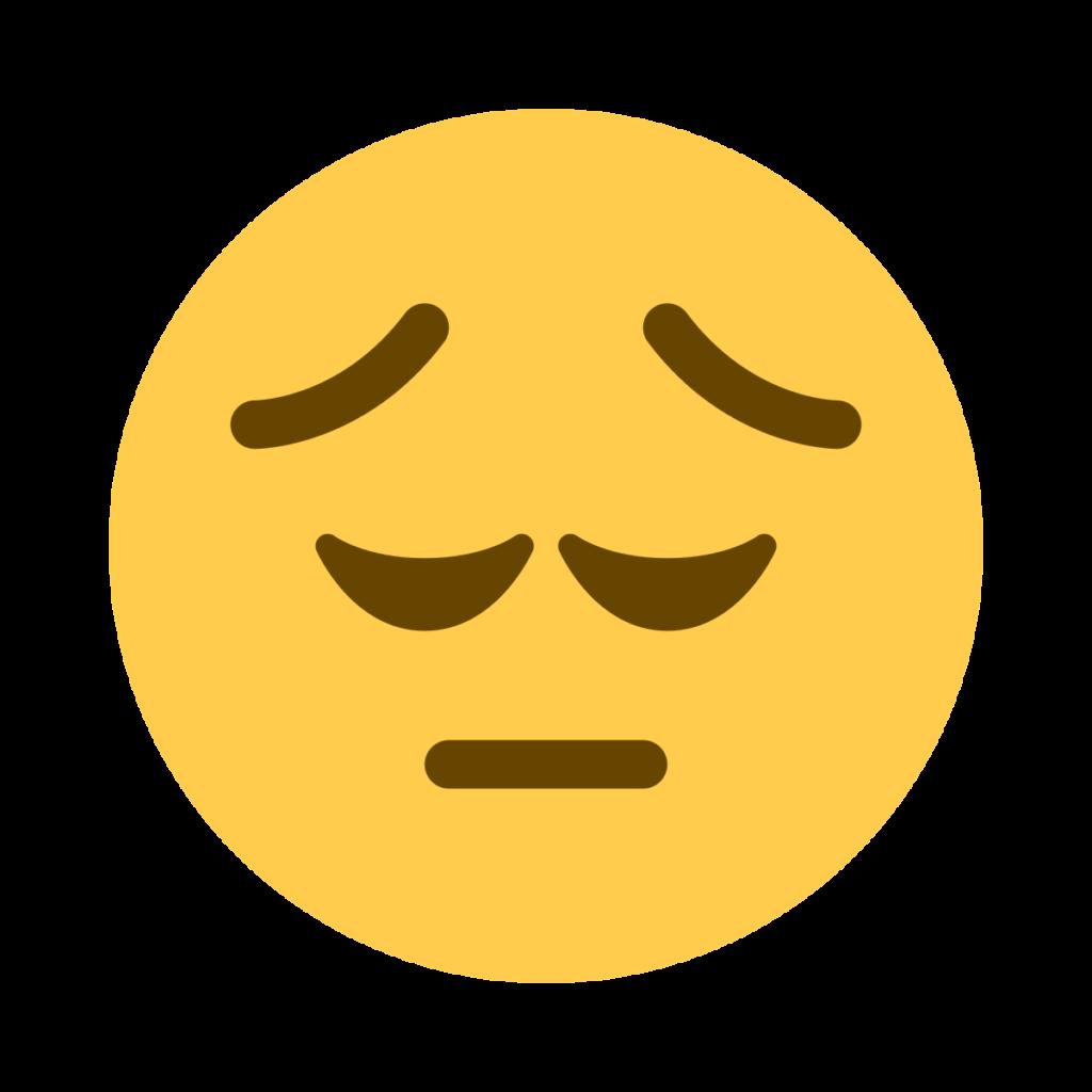 Pensive Face Emoji 1