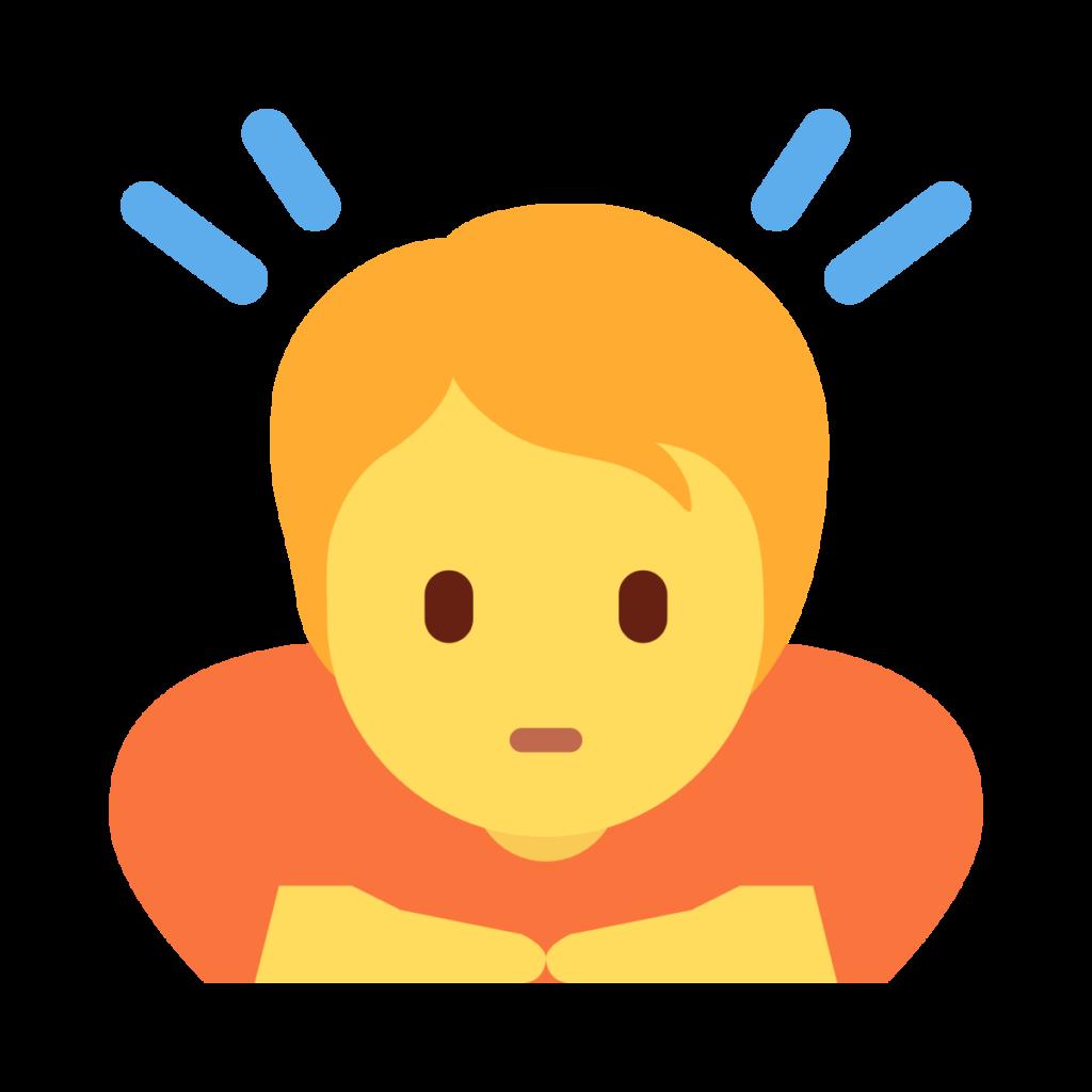 Person Bowing Emoji