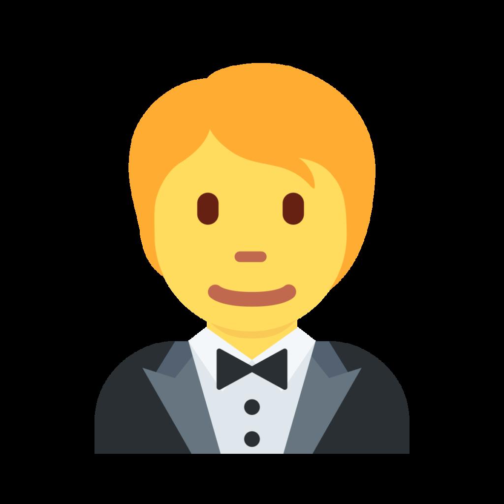 Person In Tuxedo Emoji