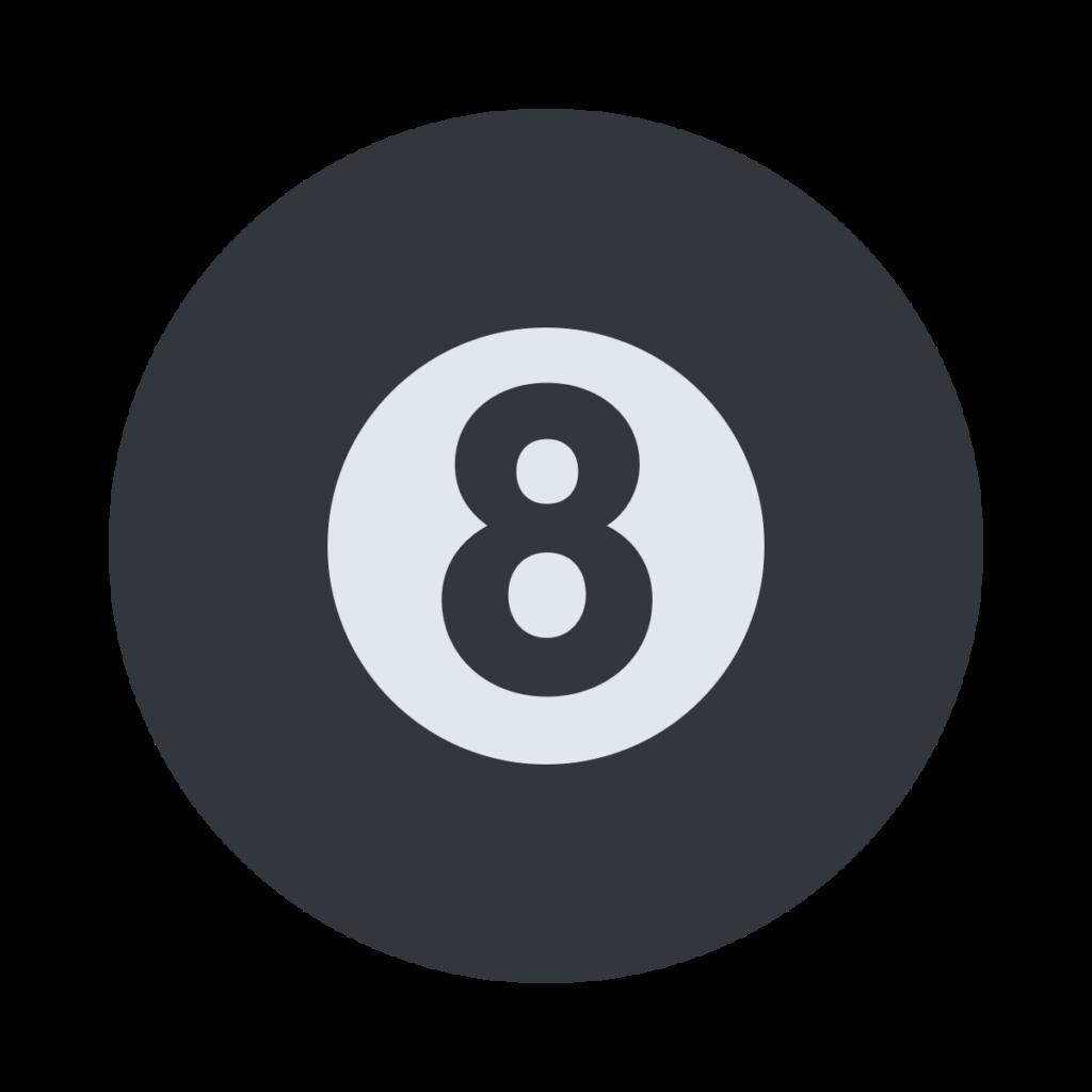 Pool 8 Ball Emoji