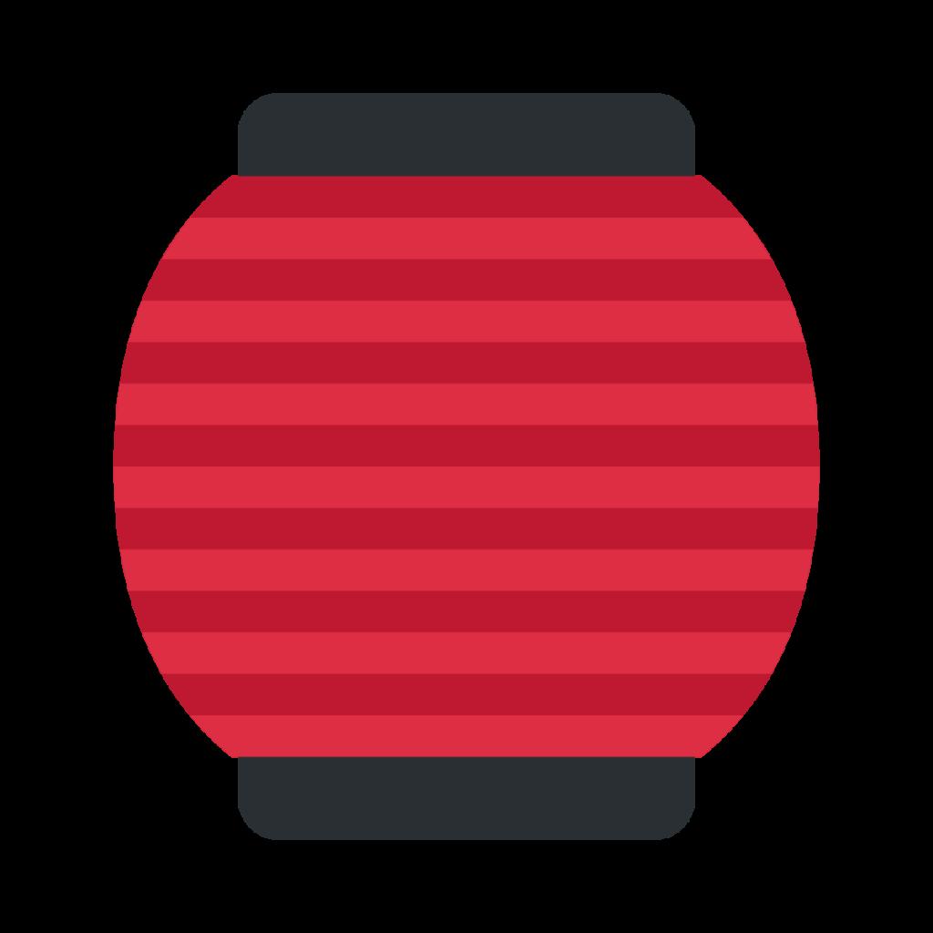 Red Paper Lantern Emoji