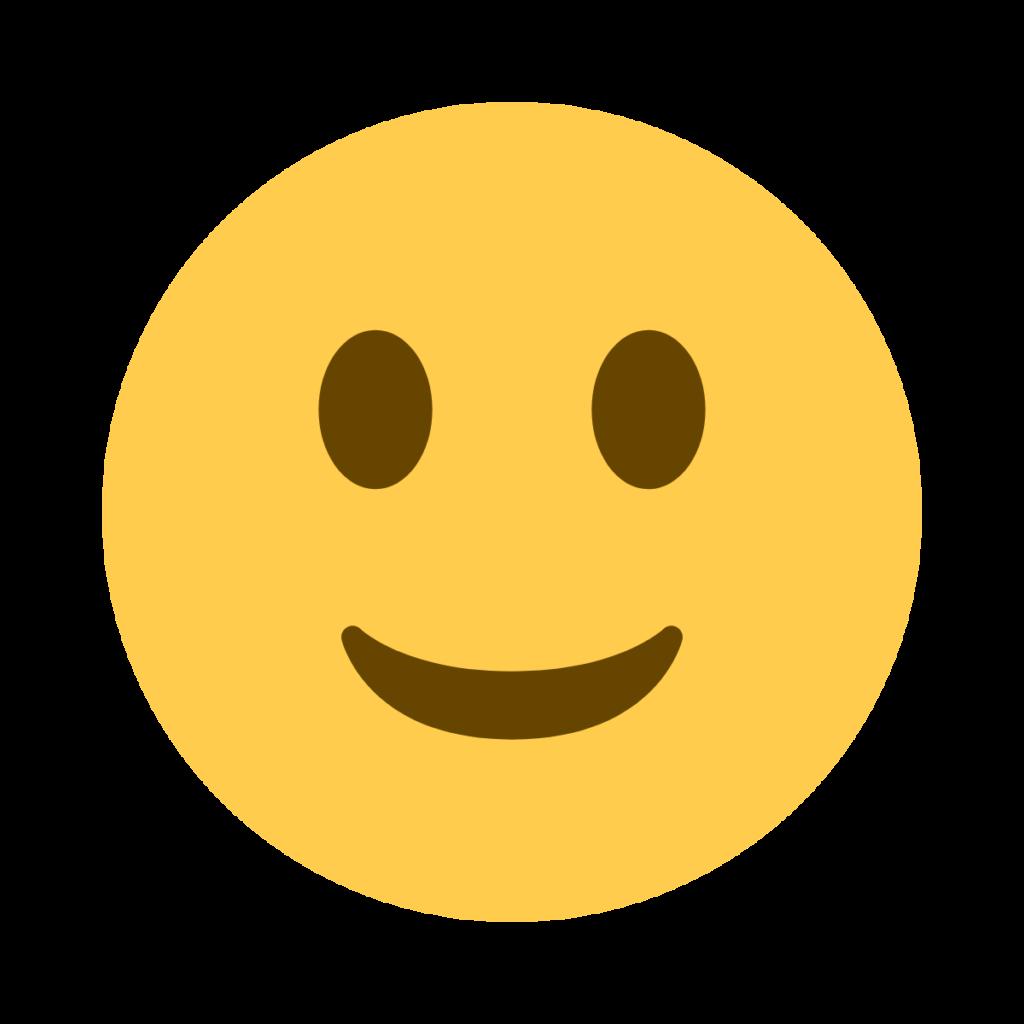 Slightly Smiling Face Emoji