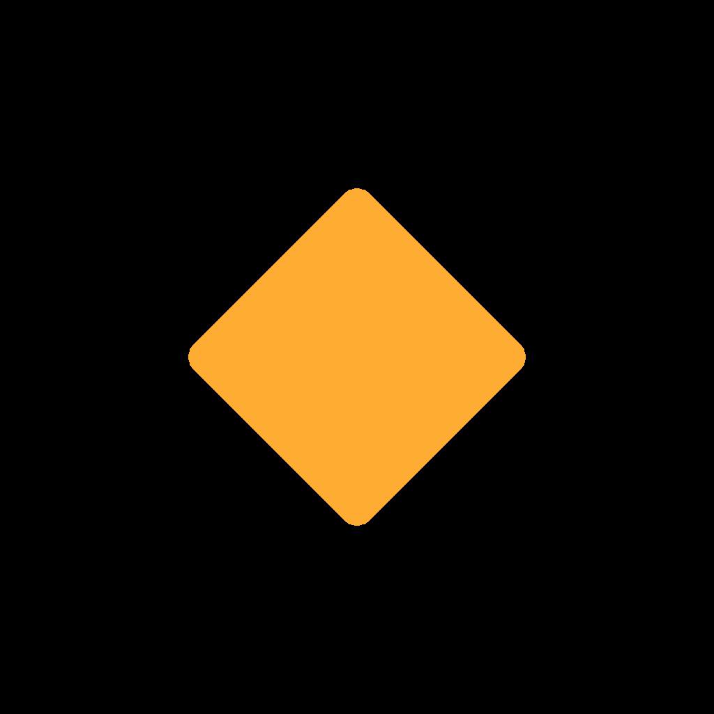 Small Orange Diamond Emoji