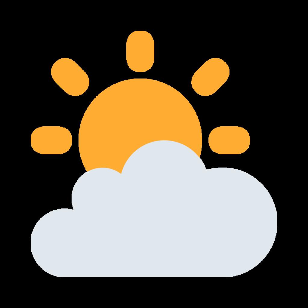 Sun Behind Cloud Emoji