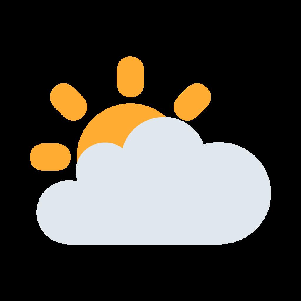 Sun Behind Large Cloud Emoji