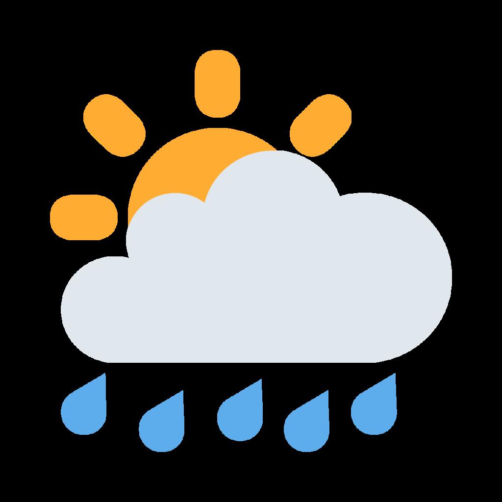Sun Behind Rain Cloud Emoji