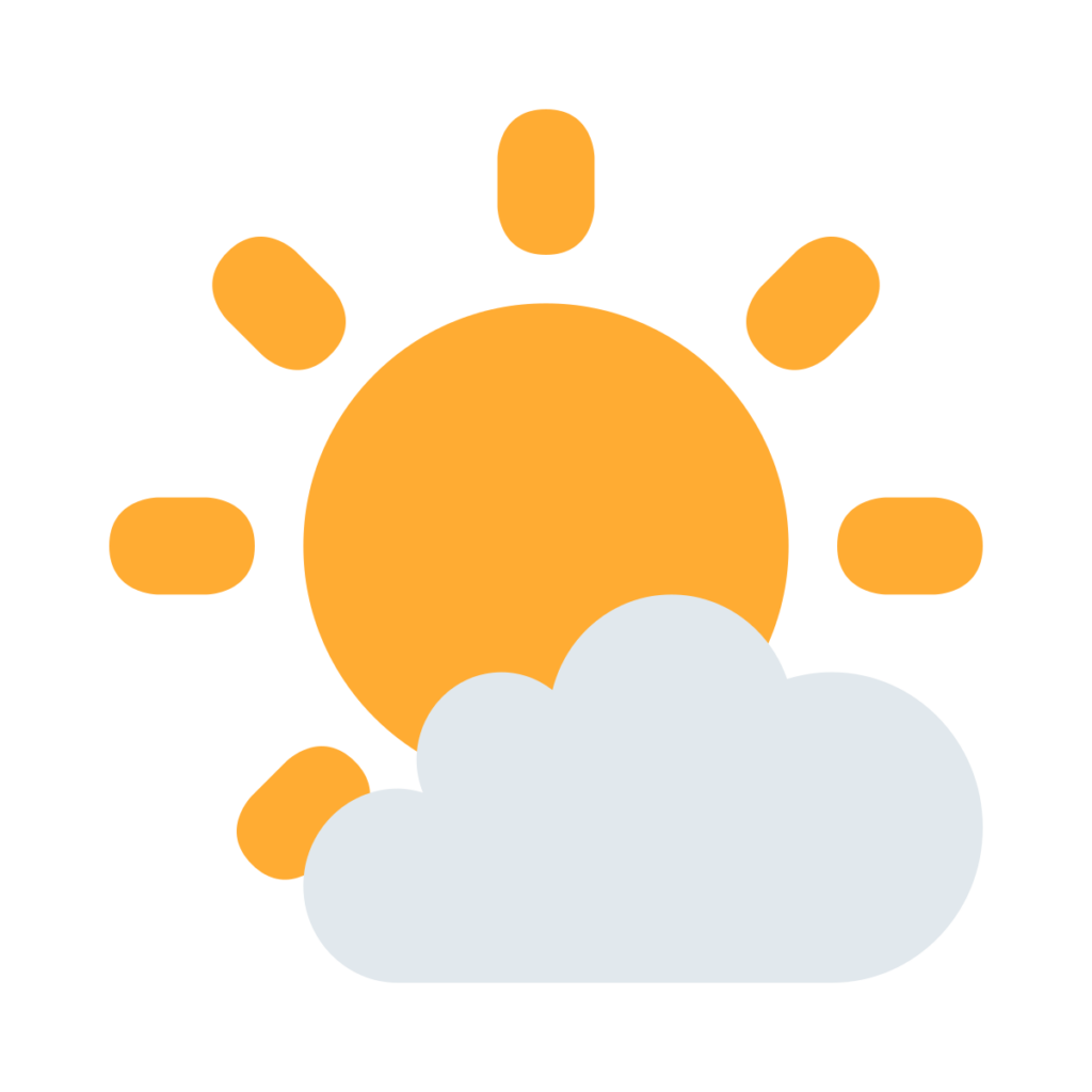 Sun Behind Small Cloud Emoji