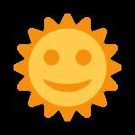 Sun With Face Emoji