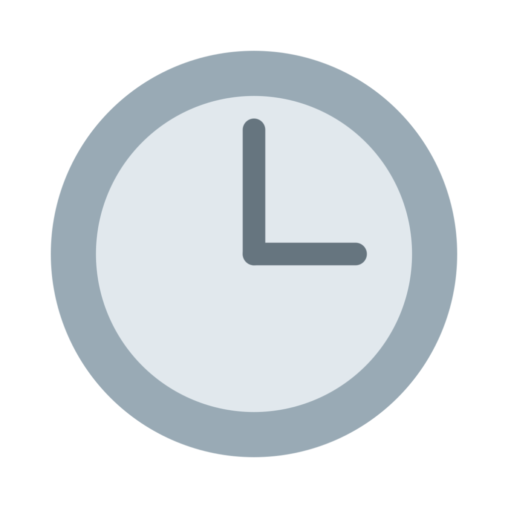 Three O'Clock Emoji