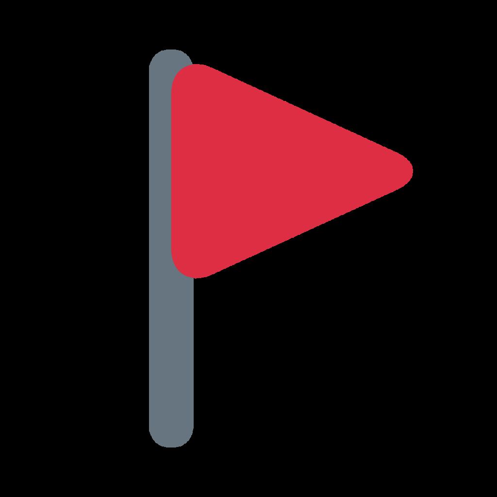 Triangular Flag Emoji