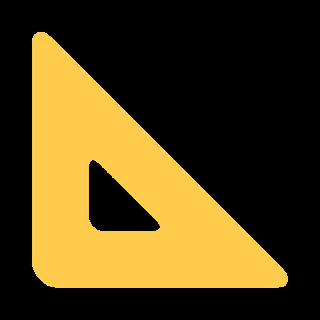 Triangular Ruler Emoji