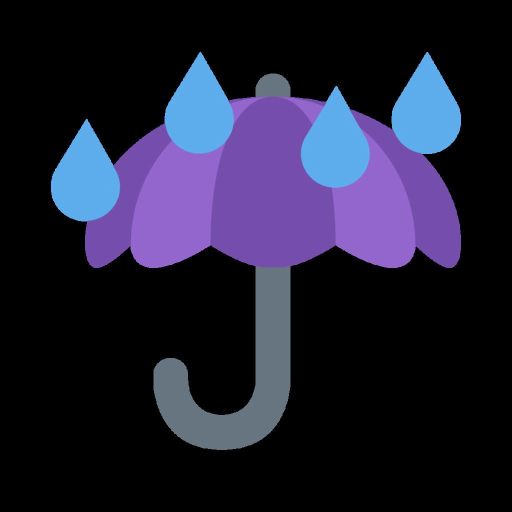 Umbrella With Rain Drops Emoji