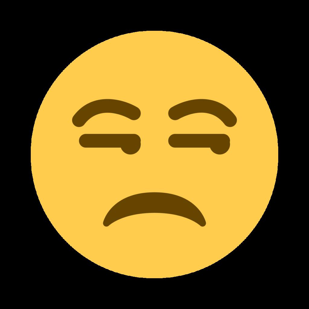 Unamused Face Emoji 1