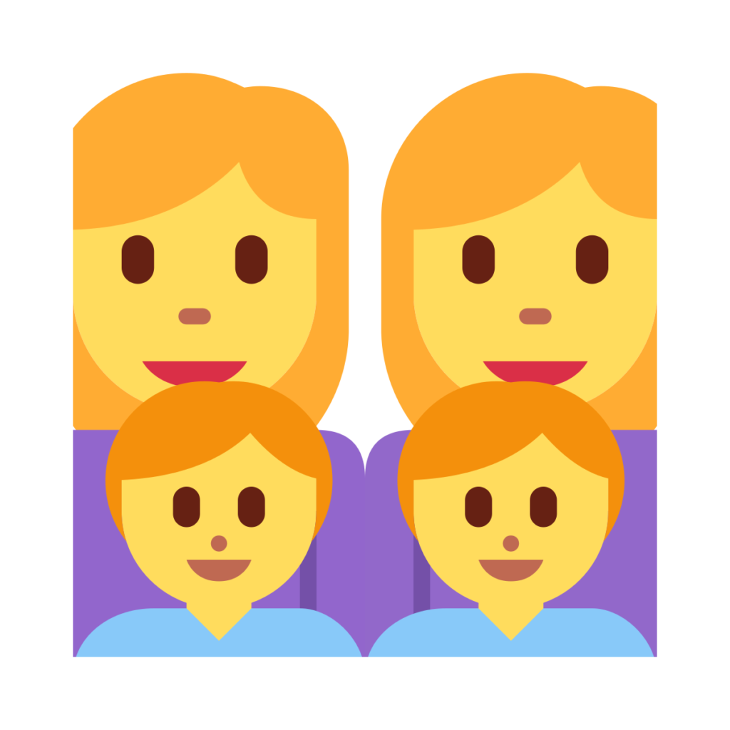 Woman Woman Boy Boy Emoji