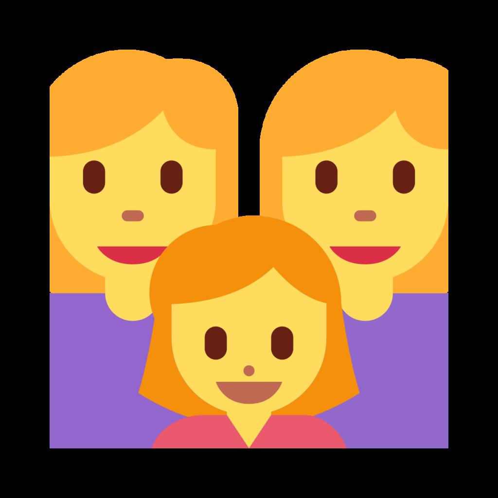 Woman Woman Girl Emoji