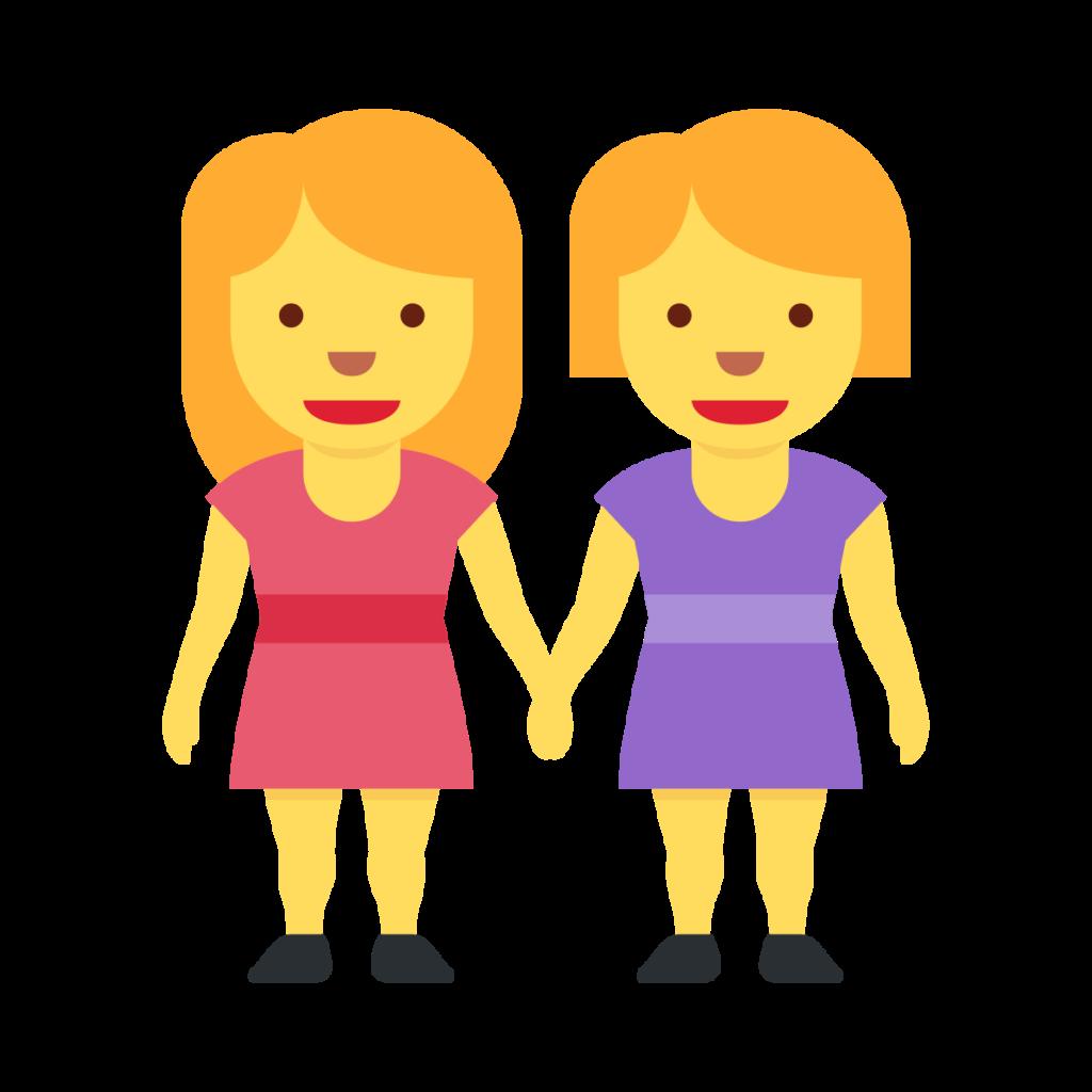 Women Holding Hands Emoji