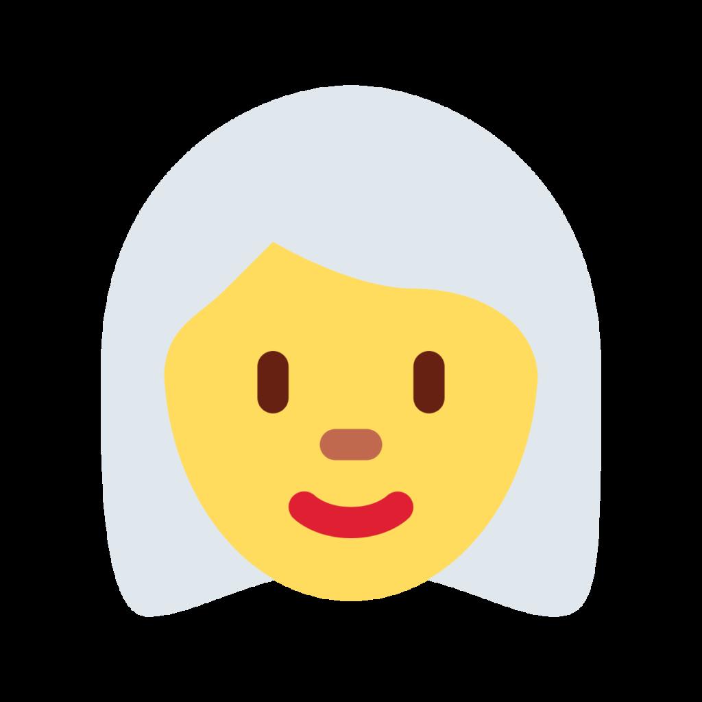 Woman White Hair Emoji