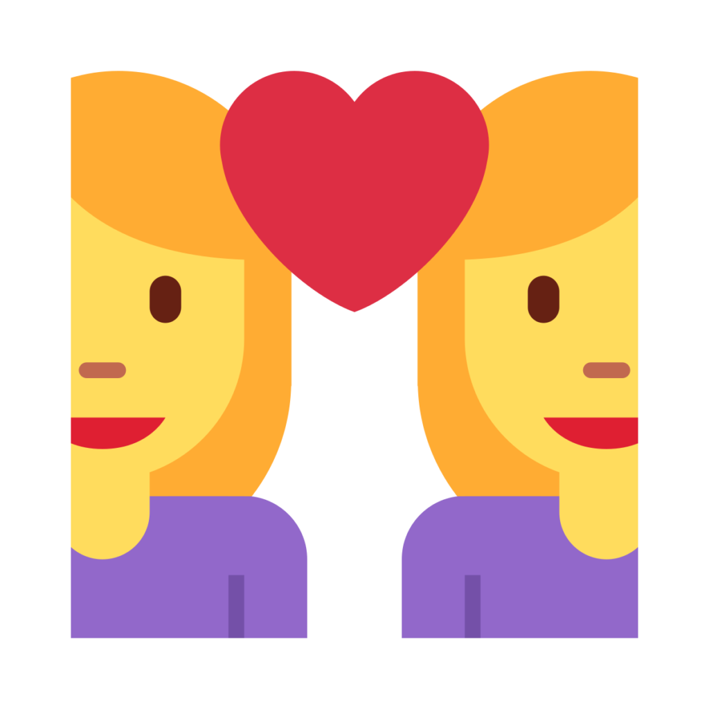 Couple with Heart Woman Woman Emoji