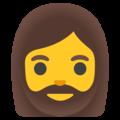 woman beard 1f9d4 200d 2640 fe0f 1