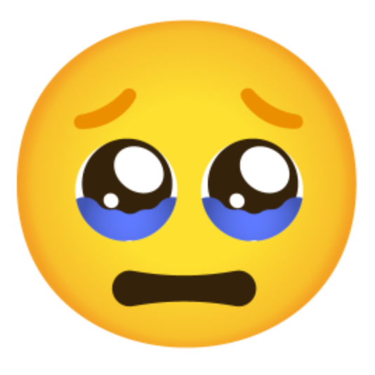 Face Holding Back Tears Emoji