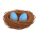 Nest With Eggs Emoji