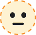 Dotted Line Face Emoji