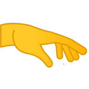 Palm Down Hand Emoji
