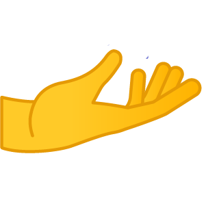 Palm Up Hand Emoji